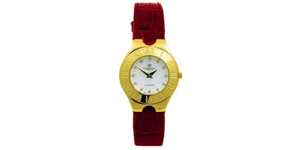 Dámske pozlátené hodinky s diamantmi Christina London
