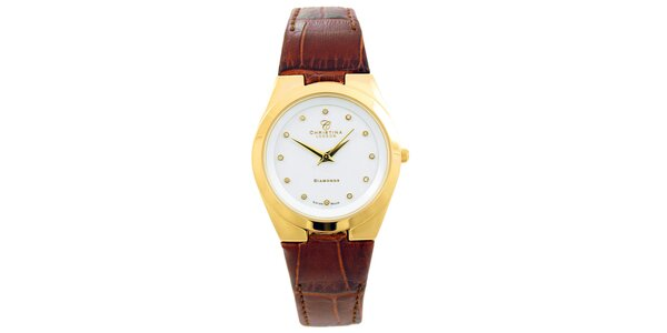 Dámske hodinky s diamantovými indexmi Christina London