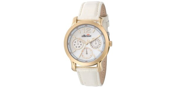 Dámske hodinky s bielym remienkom Ellesse
