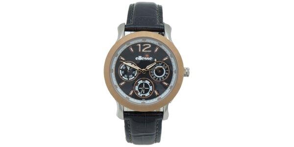 Dámske hodinky s čiernym remienkom Ellesse