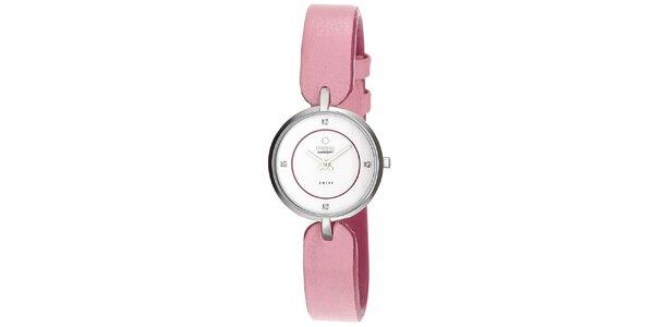 Dámske hodinky s ružovým remienkom Obaku