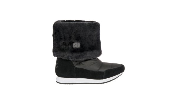 Dámske čierne snehule Calvin Klein