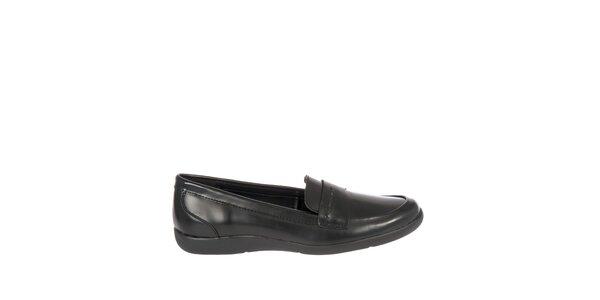 Dámske čierne kožené mokasíny Calvin Klein