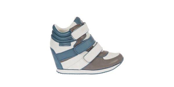 Dámske bielo-modré tenisky na kline Calvin Klein Jeans