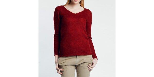 Dámsky červený svetrík Nero su Bianco