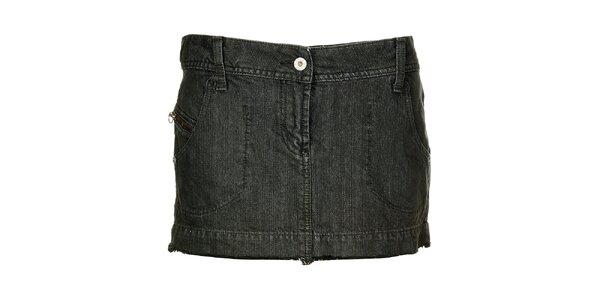 Dámska modro šedá džínsová minisukňa Freesoul