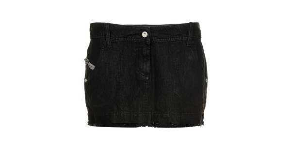 Dámska čierna džínsová minisukňa Freesoul