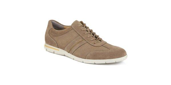 Pánske hnedé semišové športové topánky Clarks