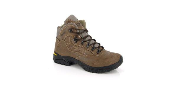 Hnedé členkové topánky Kimberfeel