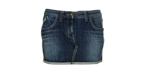 Dámska modrá džínsová minisukňa Freesoul