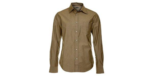 Pánska hnedo šedá košeľa Freesoul