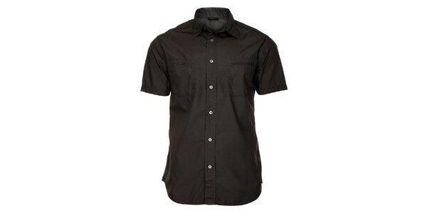 Pánska tmavo šedá košeľa Freesoul s krátkym rukávom