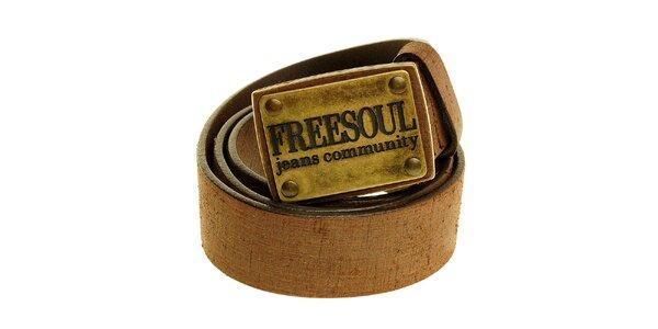 Pánsky čierny kožený opasok Freesoul