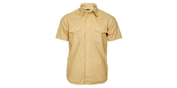 Pánska piesková košeľa Freesoul s krátkym rukávom