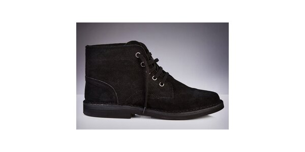 Pánske čierne členkové topánky Roamers