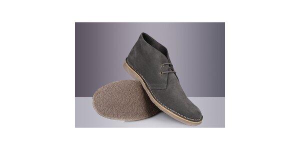 Pánske šedé členkové topánky Roamers