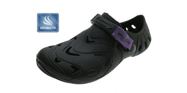Dámske čierne gumové topánky Beppi s vôňou