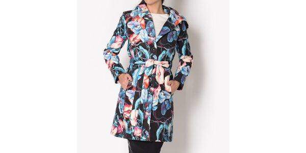 Dámsky kvetinový kabát s kapucňou Santa Barbara