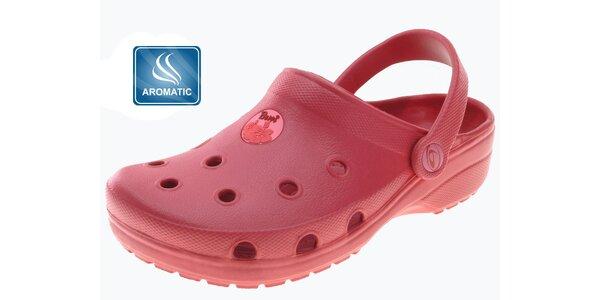 Dámske červené papuče Beppi s vôňou
