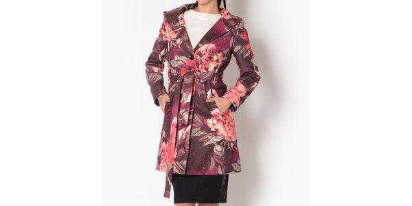Dámsky kabát s farebnými kvetinami Santa Barbara