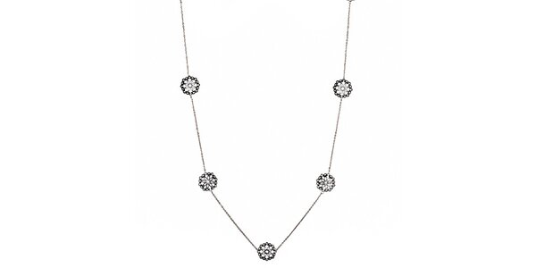 Dámsky náhrdelník s ozdobami Fossil