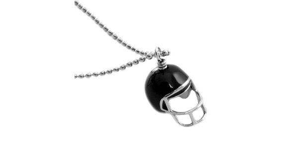 Dámsky náhrdelník s príveskom helmy Moschino