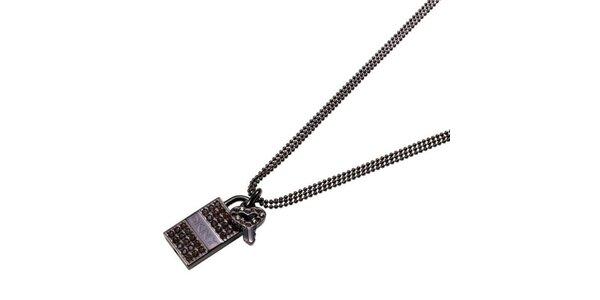 Dámsky náhrdelník s kamienkami DKNY