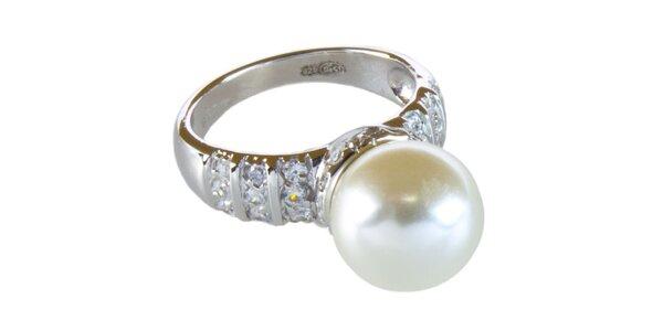Dámsky prsteň so smotanovou perličkou Cerruti 1881
