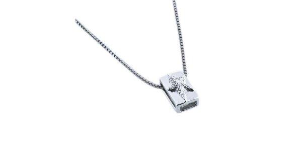 Dámsky náhrdelník s obdĺžnikovým príveskom Thierry Mugler