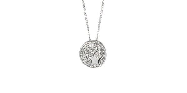 Dámsky náhrdelník s guľatým príveskom a hviezdičkou Thierry Mugler