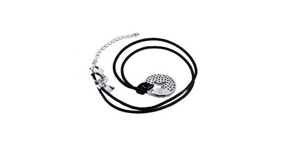 Dámsky náhrdelník s guľatým príveskom v striebornom tóne Thierry Mugler