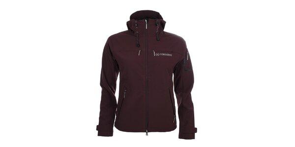 Dámska tmavo fialová softshellová bunda s kapucňou Trimm