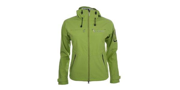 Dámska zelená softshellová bunda s kapucňou Trimm