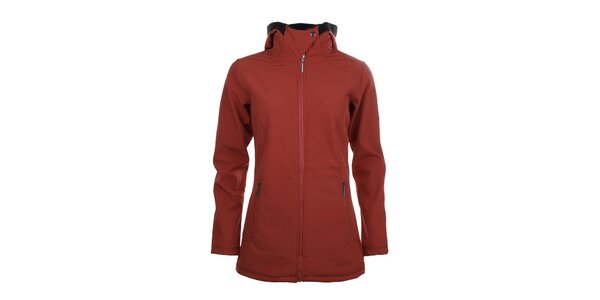 Dámska dlhšia softshellová bunda Trimm - červená