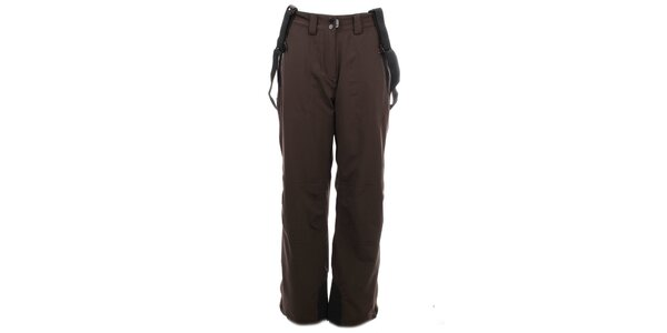 Dámske tmavo hnedé lyžiarske nohavice Trimm