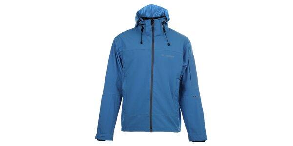 Pánska modrá softshellová bunda s kapucňou Trimm