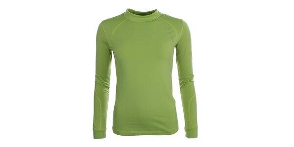 Dámske zelené funkčné tričko s dlhými rukávmi Trimm