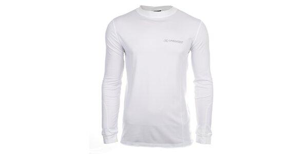 Pánske biele fukčné tričko s dlhými rukávmi Trimm