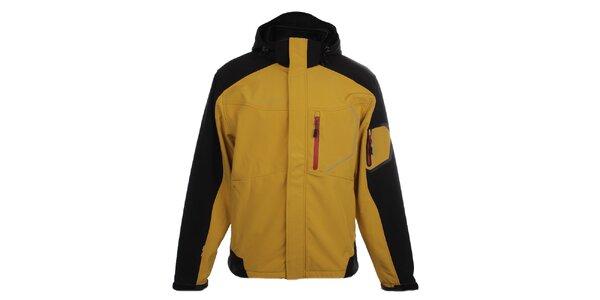 Pánska žlto-čierna softshellová bunda Trimm