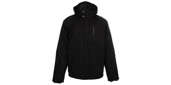 Pánska čierna softshellová bunda so vzorom Trimm