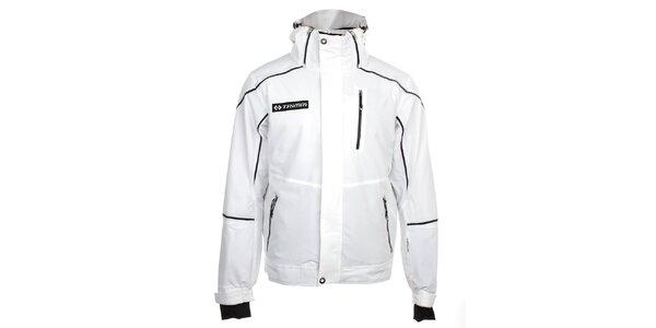 Pánska biela lyžiarska bunda s čiernymi prvkami Trimm