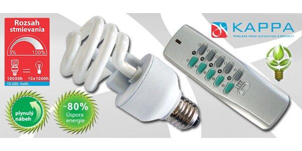 Stmievacia úsporná žiarivka s diaľkovým ovládačom CFR-2027