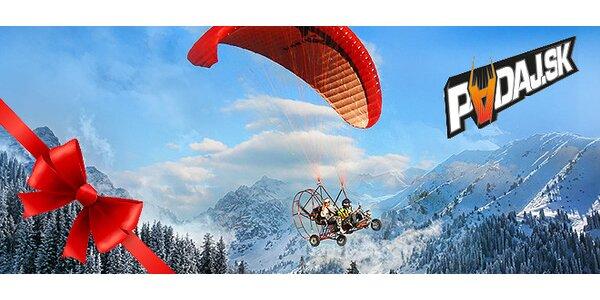 Darujte tandemový motorový let ponad Poľanu