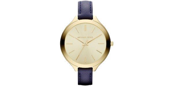 Dámske minimalistické hodinky s tmavomodrým remienkom Michael Kors