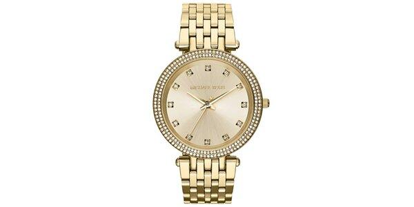 Dámske hodinky s bielymi zirkónmi Michael Kors