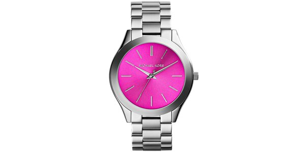 Dámske nerezové hodinky s ružovým ciferníkom Michael Kors