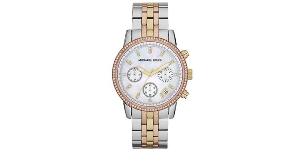 Dámske viacfarebné oceľové hodinky Michael Kors