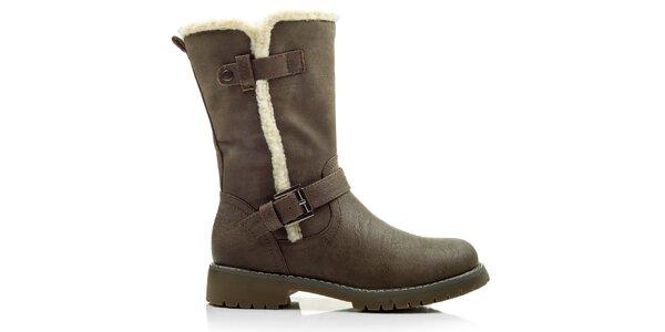 Dámske hnedé topánky na zips Cats eyes