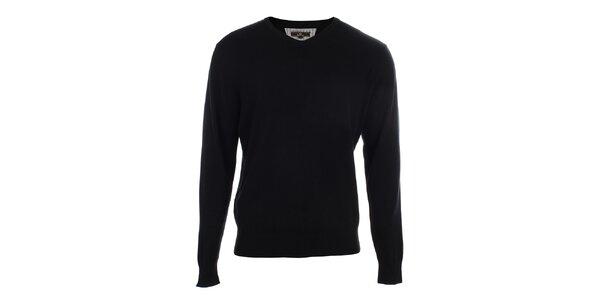 Pánsky čierny sveter Loram