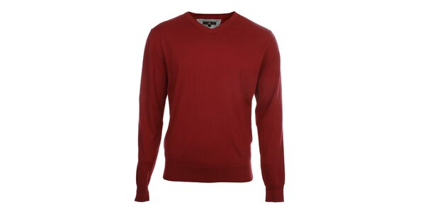 Pánsky červený sveter Loram